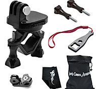 360 Degree Rotating Bike Clamp Mount Kit For All Gopro Hero Camera/SJCAM/Xiaoyi-Black[B]