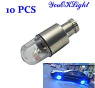 0.5W luz del neumático youoklight® 30-50lm super luminoso intermitente LED azul (10 piezas)