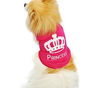 Gatos / Perros Camiseta Rosa Verano / Primavera/Otoño Tiaras y Coronas