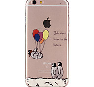 Penguin Balloon Pattern TPU Soft Phone Case for iPhone 6/6S