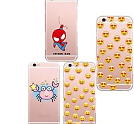 MAYCARI®Smiling Face Soft Transparent TPU Back Case for iPhone 5/5S(Assorted Colors)