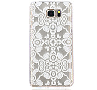 Lace Flowers Pattern TPU Material Phone Case for Samsung Galaxy Note 5/4/3