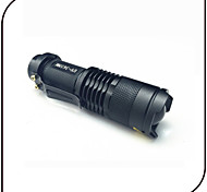 SK68 3 Mode LED Flashlights/Torch LED 250 lumens Adjustable Focus / Pocket Cree Q5 Led 14500 / AA Battery