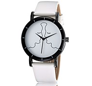 Simple black and white quartz watch