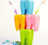 4 Hole Teeth Style Toothbrush Holder Tooth Brush Stand Rack Shelf Bracket Container (Random Color)
