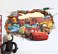 Cars Poqiang Children's Room Bedroom Backdrop Stickers