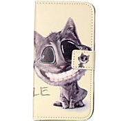 Big Cat Face Relief Painted PU Phone Case for Galaxy S6/S7