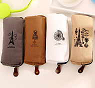 Paris Cotton Canvas Bag Retro  Pencil Case