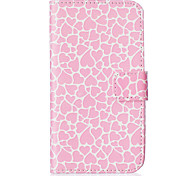 Pink Love Pattern Embossed PU Leather Case for Galaxy J5(2016)/ Galaxy Grand Prime/ Galaxy Grand Prime/ Galaxy J5