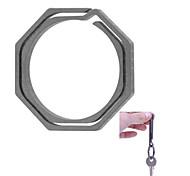 FURA Octagonal Titanium Alloy Keyring - Grey