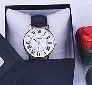 Unisex-Uhr heiße Lederarmbanduhr Frauen-Kleid-Uhren Quarzuhr qc bestanden
