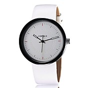 Unisex Fashion Watch New Simple Fashion Round Leather Table Fashion Table Quartz  Men Women Watch  (Assorted Colors)