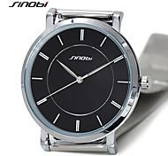 sinobi super slim meilleure marque de luxe de boutique de montres montres mens quartz inoxydable gents de montres-bracelets en acier