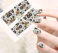 1sheets 2016 New Elegant Women Decoration Flower Nail Art Water Sticker Full Wraps Nail Tools
