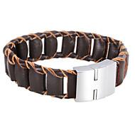 Punk Real Leather Split Joint Bracelets 1pc