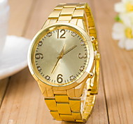Women's Men Fashion Quartz Wrist Watch Alloy Band