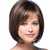 New Arrival Fashion Bob Style Straight Brown with Highlights Synthetic Hair Wig Free Shipping