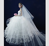 Barbie Doll White Wedding Dress with Long Veil Mariage D'Amour