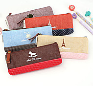 Small Fresh Cotton Fabric Stitching Pencil Case Bag Cotton Bag Creative Time