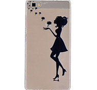 Back Cover Transparent Sexy Lady TPU Soft Case Cover For Huawei Huawei P8 Lite