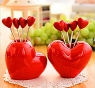 Creative Love Style Snack Fork Fruit Fork Ornament Decoration 5 Forks