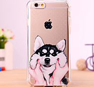 Cute Cartoon Alaska Dog Design TPU Back Cover Case for IPhone 6 Plus Iphone 6S Plus
