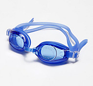 WAVE Swimming Goggles Women's / Men's / Unisex Anti-Fog / Waterproof / Adjustable Size / Anti-UV Silica Gel PC Transparent Black / Blue