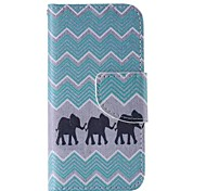 Elephant Painted PU Phone Case for iphone5SE