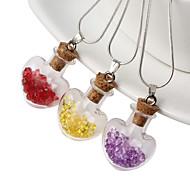 HUALUO®Retro sweater accessories glass ball glass pendant glass stones love