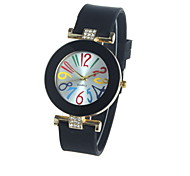 Women's Ladies Fashion Geneva Silicone Watches Quartz Watch Silicone Band
