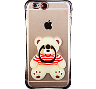 Glow in the Dark Raccoon Pattern with Hand Ring and Strap PC Back Case for iphone6/6s