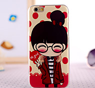 Glasses Little Girl Design Back Cover Case for IPhone 6 Iphone6S