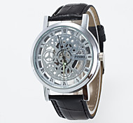 New Arrival Skeleton Fashion Men And Women Wristwatch with Quartz Lava  And Pu Strap Cool Watches Unique Watches