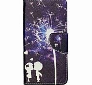 Cross Textured Leather Magnetic Stand Phone Case with Card Slot for Acer Liquid Z520 - Lovers and Dandelion