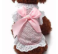 Sweet Lace Bowknot Pet Dress