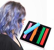 6 colori pastelli gesso temporanee per capelli pastelli tintura dei capelli non tossici bastone strumenti per lo styling fai da te