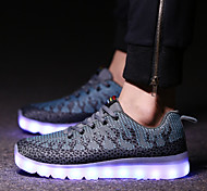 Running Shoes Men's LED Shoes Athletic / Casual Tulle Fashion Sneakers / Athletic Shoes Blue / Green / Orange