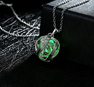 New Magical Glow in the Dark Luminous Ball of Yarn Pendant Necklace