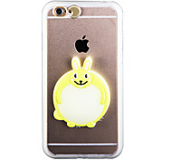 Glow in the Dark Little White Rabbit PC Back Case with Strap and Stand for iphone6plus/6splus
