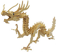 3D Puzzles Animal Wooden Building Blocks Toys Jigsaw Puzzle Wooden Children'S Educational Toys Dragon