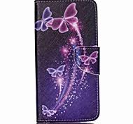 überqueren strukturiertem Leder-Telefonkasten für Acer Liquid Z630 z630s - lebendige Schmetterlinge
