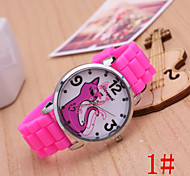 Ladies' Fashion Watch Small Black Cat Cartoon Jelly Silicone Quartz Watch