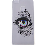 Eye Pattern Transparent TPU Material Soft Phone Case for Huawei Ascend P9/Ascend P9 Lite
