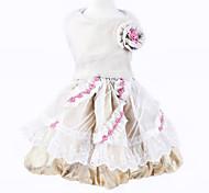 Dog Dress Gold Summer / Spring/Fall Floral / Botanical Wedding / Birthday / Fashion, Dog Clothes / Dog Clothing-Pething®