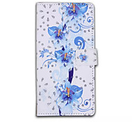 Glitter Butterfly Stand Flip Leather Wallet Pouch Hard Case Cover For Samsung Galaxy S Catena