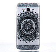 Sunflowers Pattern Black Printing Transparent TPU Material Phone Case for Samsung Galaxy G360/G530