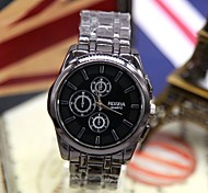 Unisex Fashion Watch New Korea Precision Calibration Three Six-Pin Black Steel Quartz Watch (Assorted Colors)