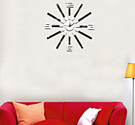 Household Wall Clock In Europe And The Contracted Fashion Mute Diy Mirror Wall Clock Wall Stick