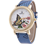 Women's  Fashion Simplicity Butterfly Quartz  Leather Lady Watch Cool Watches Unique Watches
