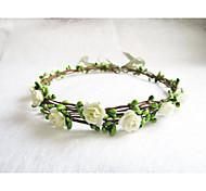 Floral Crown, Ivory Flower Headband, Floral Head Wreath, Wedding Headband, Bridesmaid Flower Crown, Flower Girls Flow